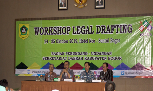 Workshop Legal Drafting Kabupaten Bogor